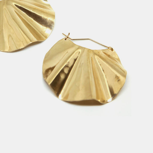 Slantt Petite Dani Earrings are beautiful brass hoops and the perfect statement earrings - Collyer's Mansion