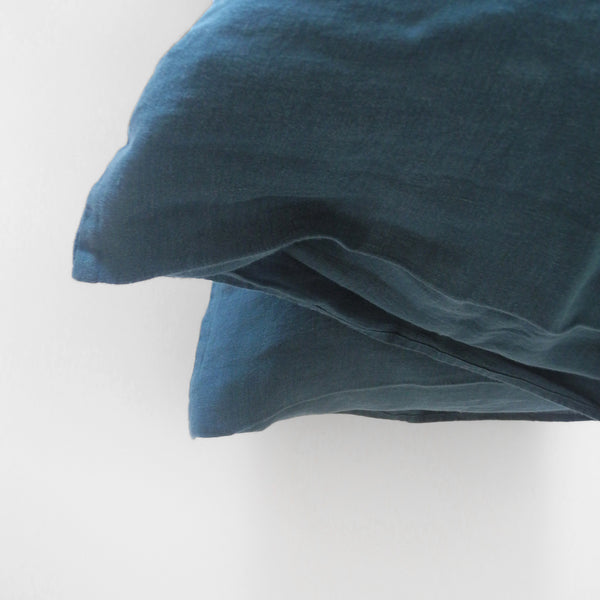 Linen Standard Pillowcase, duck blue