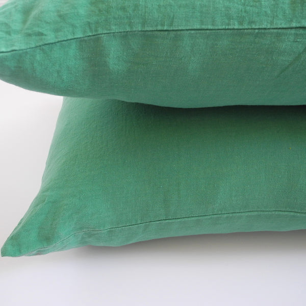 Linen Standard Pillowcase, emerald