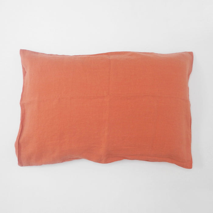 Linen Standard Pillowcase, peach, Pillowcase, Linge Particulier, Collyer's Mansion - Collyer's Mansion