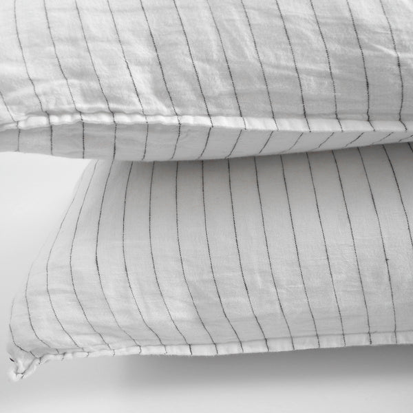 Linen Standard Pillowcase, tennis stripe
