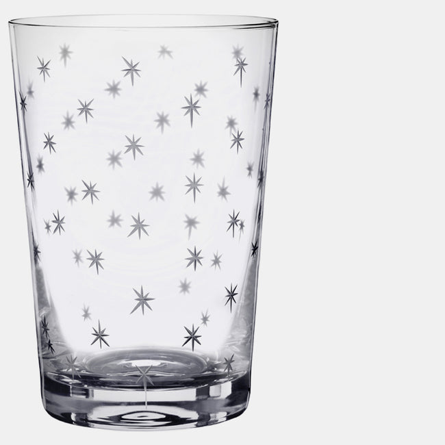 Crystal Glass Tumbler with Stars