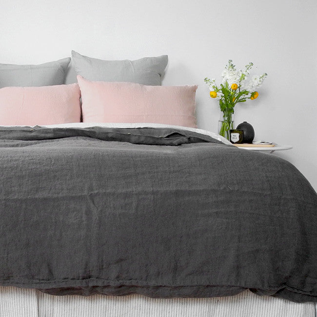 Linen Duvet, storm grey, Duvet, Linge Particulier, Collyer's Mansion - Collyer's Mansion