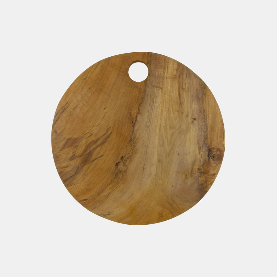Teak Root Round Cutting Board
