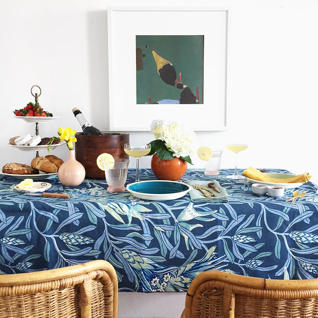 Teal Mountain Devil Tablecloth