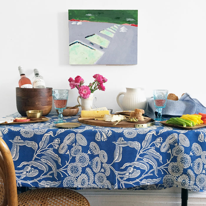 Blue Angophora Tablecloth, Tablecloth, Utopia Goods, Collyer's Mansion - Collyer's Mansion