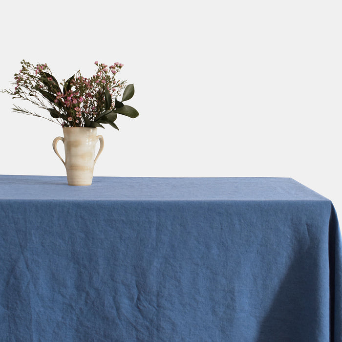 Linen Tablecloth, atlantic blue