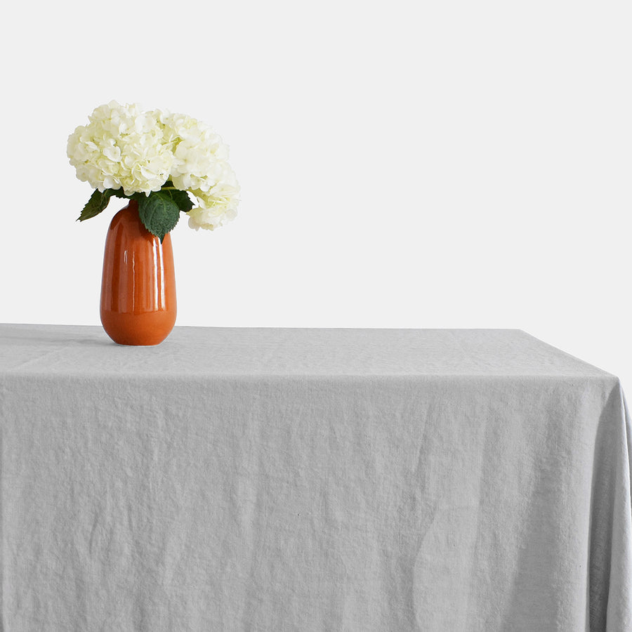 Linen Tablecloth, cloud grey