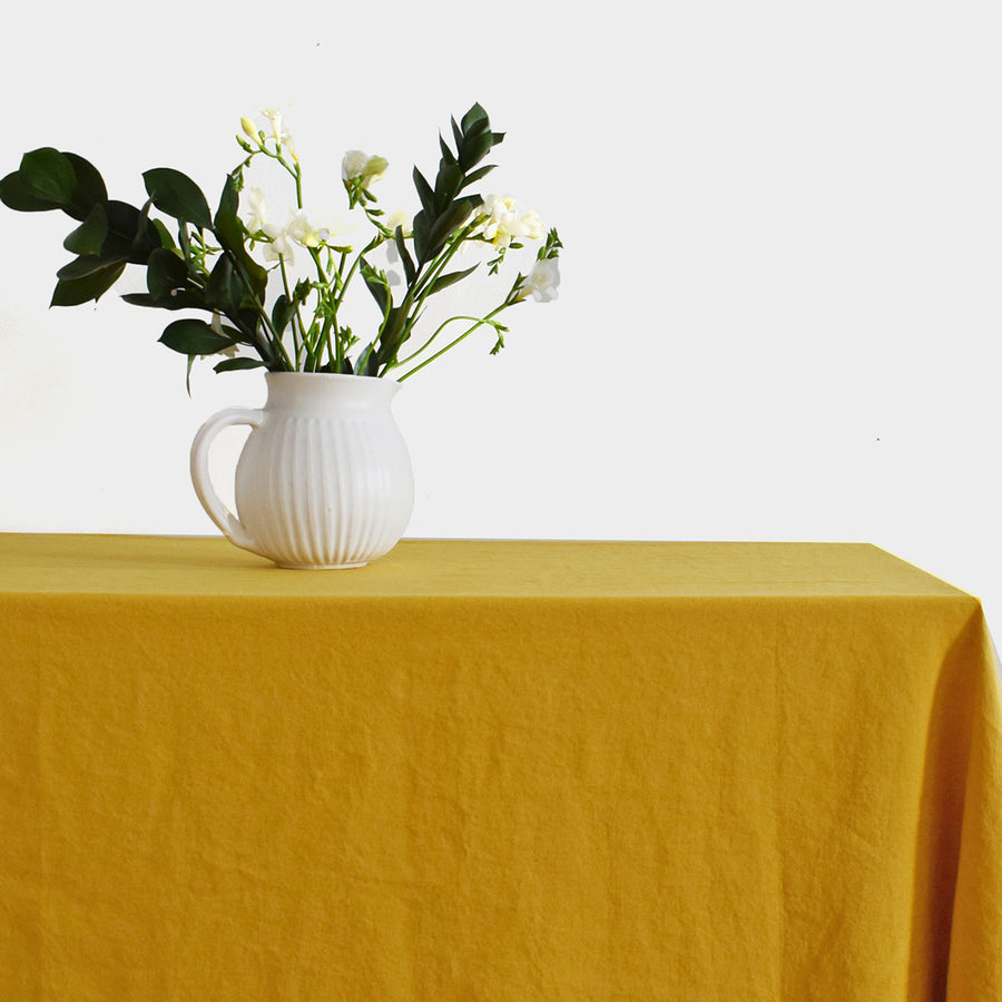 Linen Tablecloth, honey