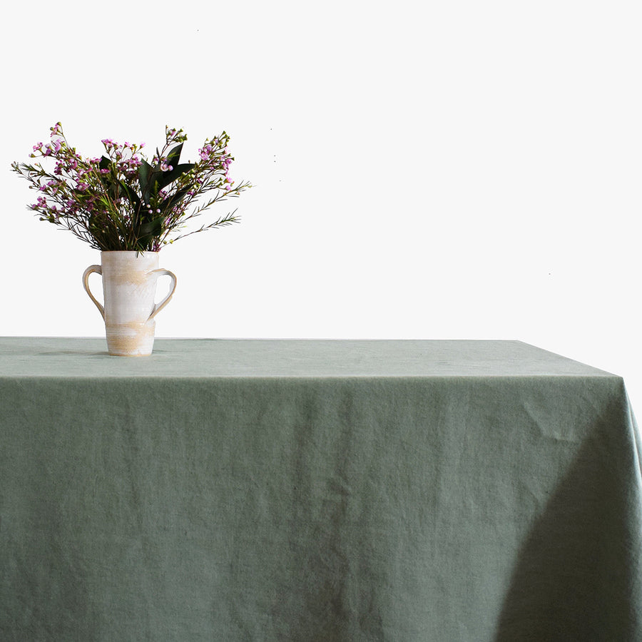 Linen Tablecloth, jade