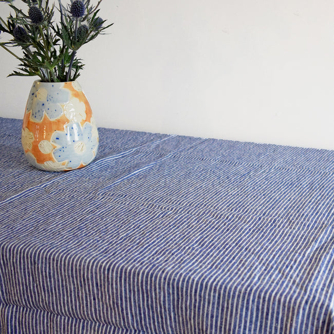 Linen Tablecloth, shirt stripe, Tablecloth, Linge Particulier, Collyer's Mansion - Collyer's Mansion