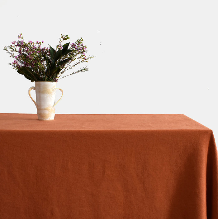 Linen Tablecloth, sienna