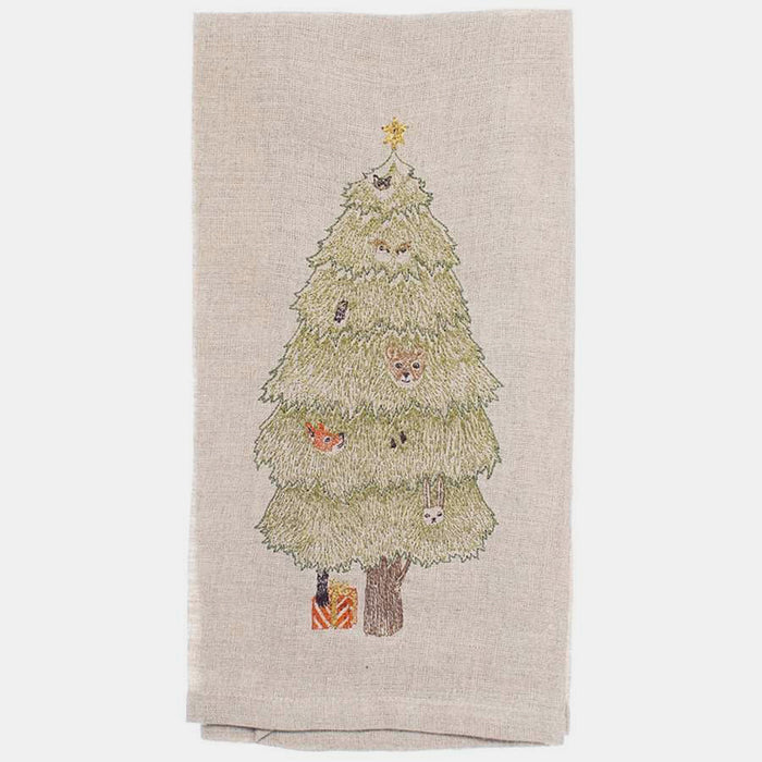 Peek-a-Tree Tea Towel