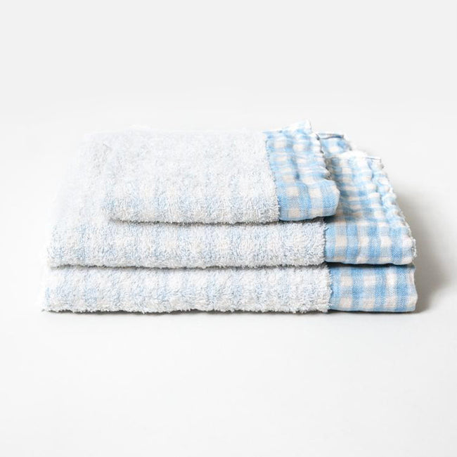 Light Blue Lino Hand Towel