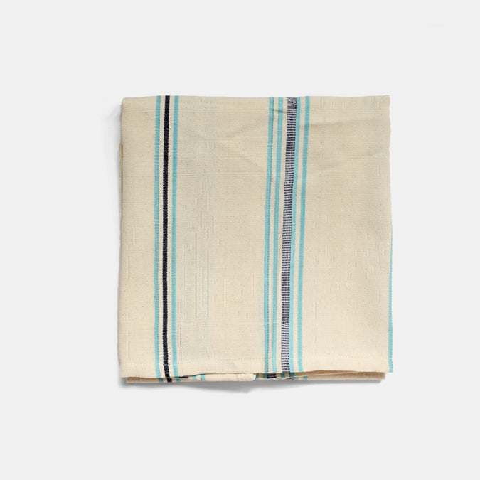 Teal Stripe Kitchen Towel