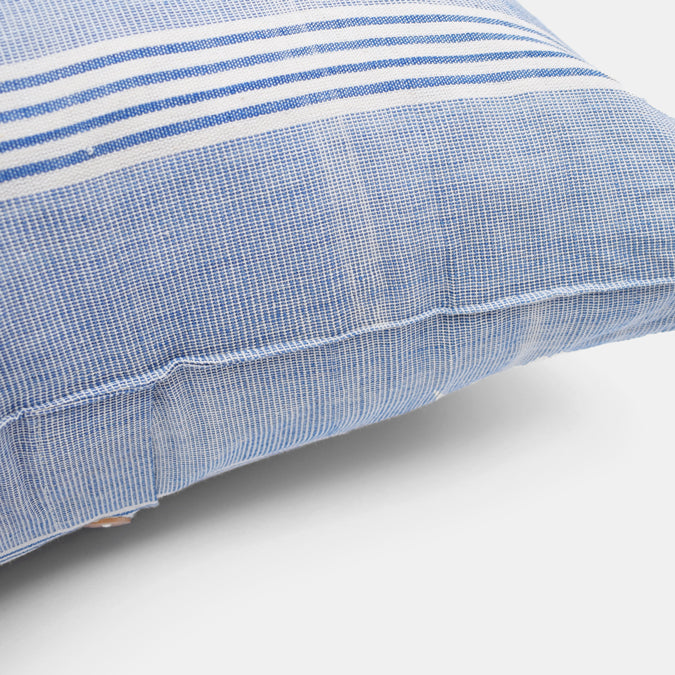 Light Blue Stripe Pillow, square
