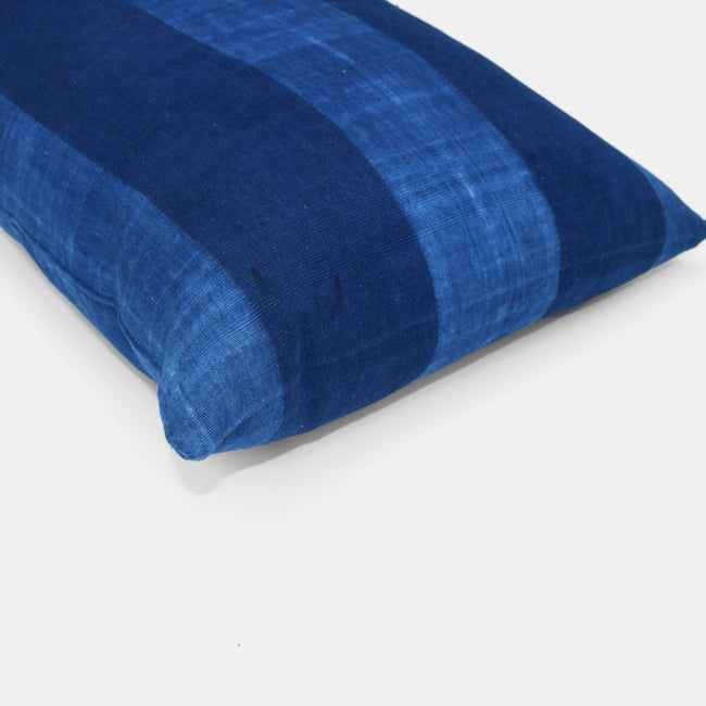 Tensira Blue Stripe Lumbar Throw Pillow at Collyer's Mansion