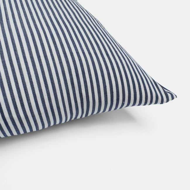 tensira blue stripe lumbar pillow at Collyer's Mansion