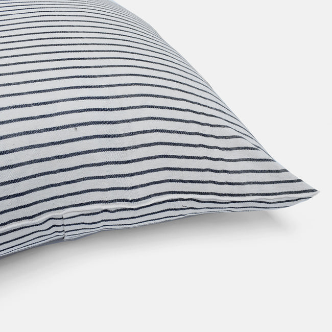Black Stripe Pillow, square