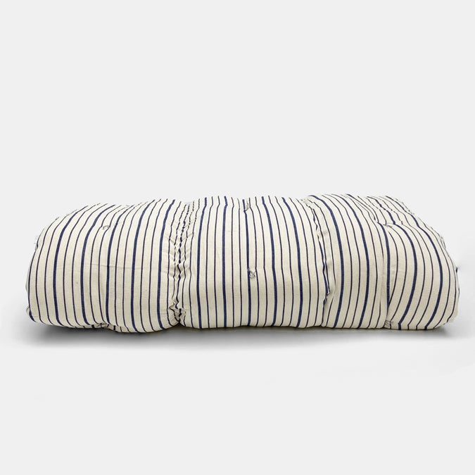 Navy Stripe Throw Bed