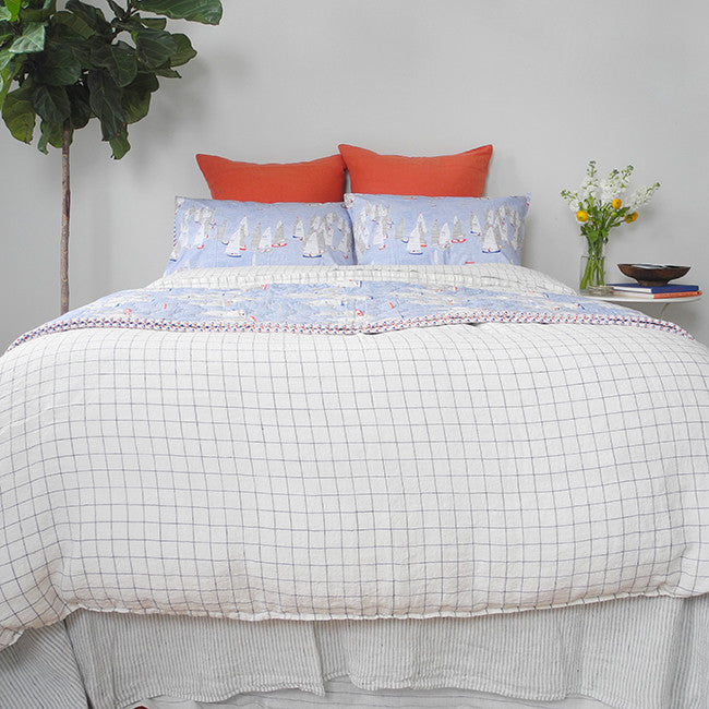 Linen Euro Pillowcase, terracotta, Pillowcase, Linge Particulier, Collyer's Mansion - Collyer's Mansion