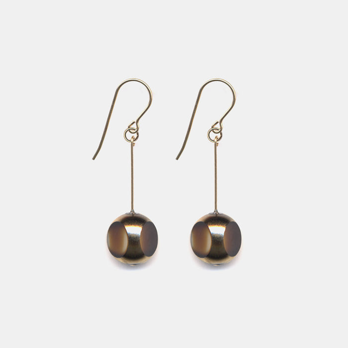 Tortoiseshell Bean Drop Earrings