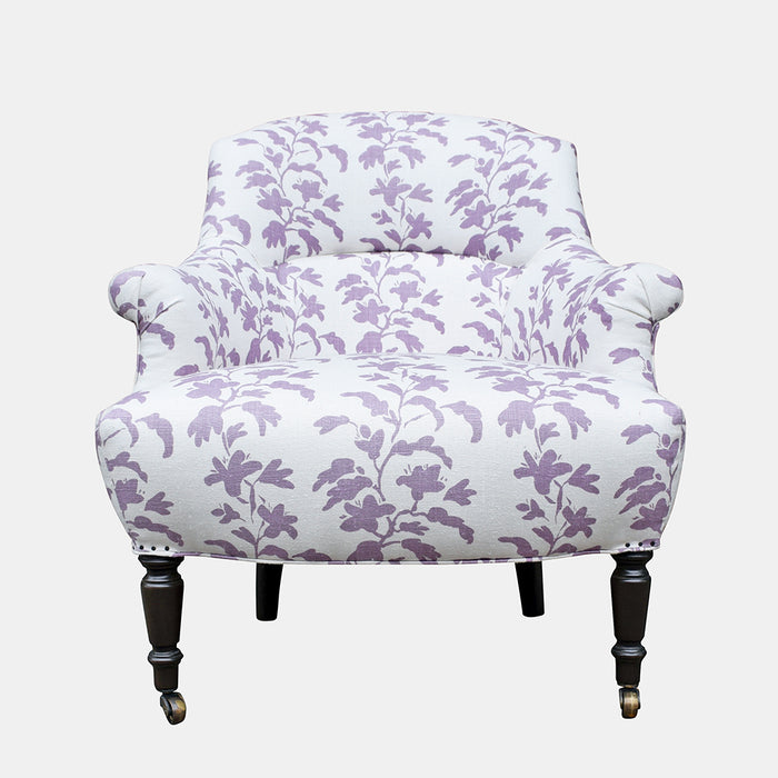 Tulip Chair in Lilac Vine