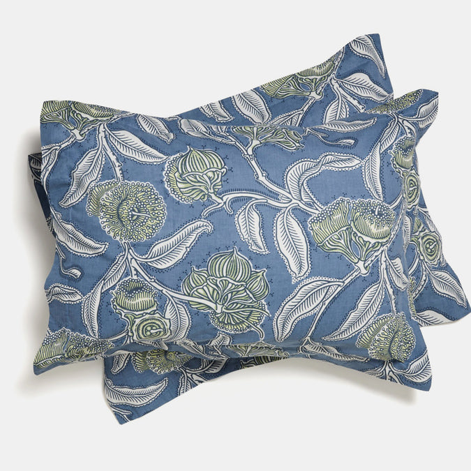 Cotton Standard Pillowcase, youngiana blue