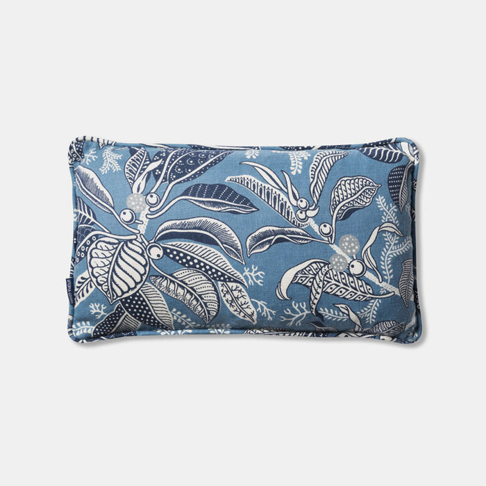 Fig Blue Pillow, lumbar