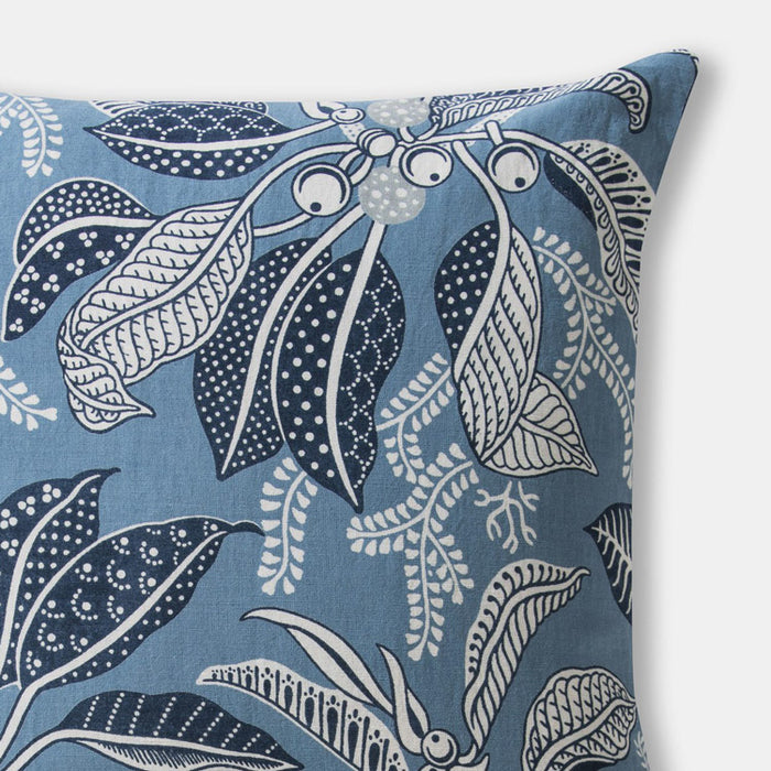 Fig Blue Pillow, square