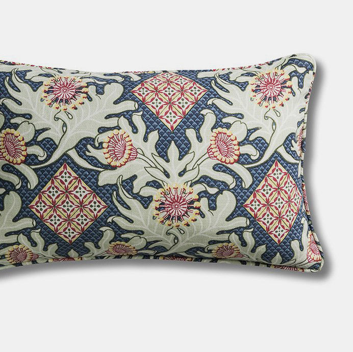 Firewheel Trellis Royal Pillow, lumbar