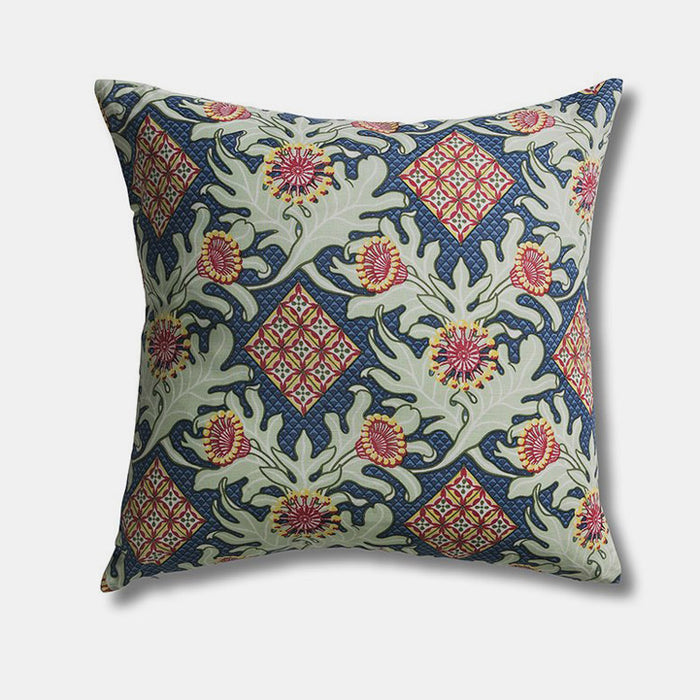 Firewheel Trellis Royal Pillow, square