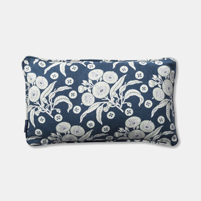 Native Posey Blue Pillow, lumbar
