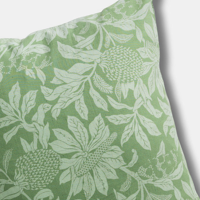 Banksia Green Pillow, square