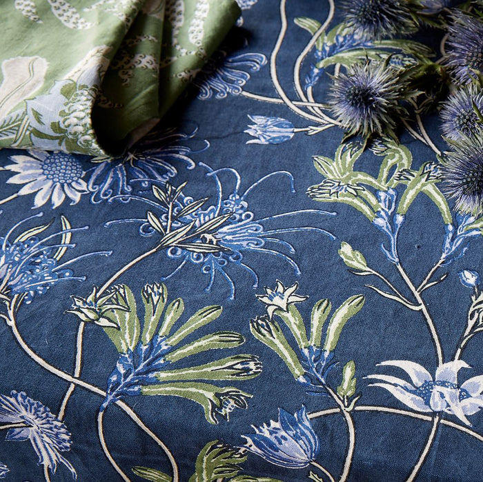 Native Meadow Blue Tablecloth