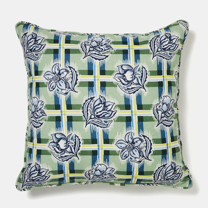 Madras Garden Pillow, square