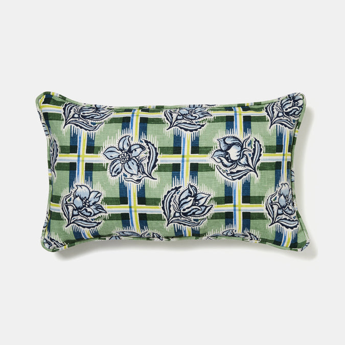 Madras Garden Pillow, lumbar