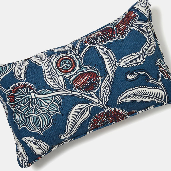 Youngiana Indigo Pillow, lumbar