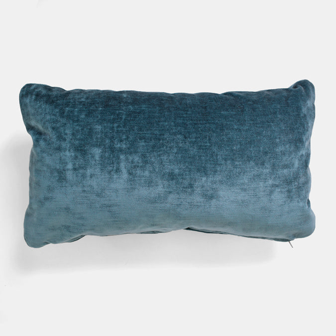 Rome Peacock Velvet Pillow, lumbar