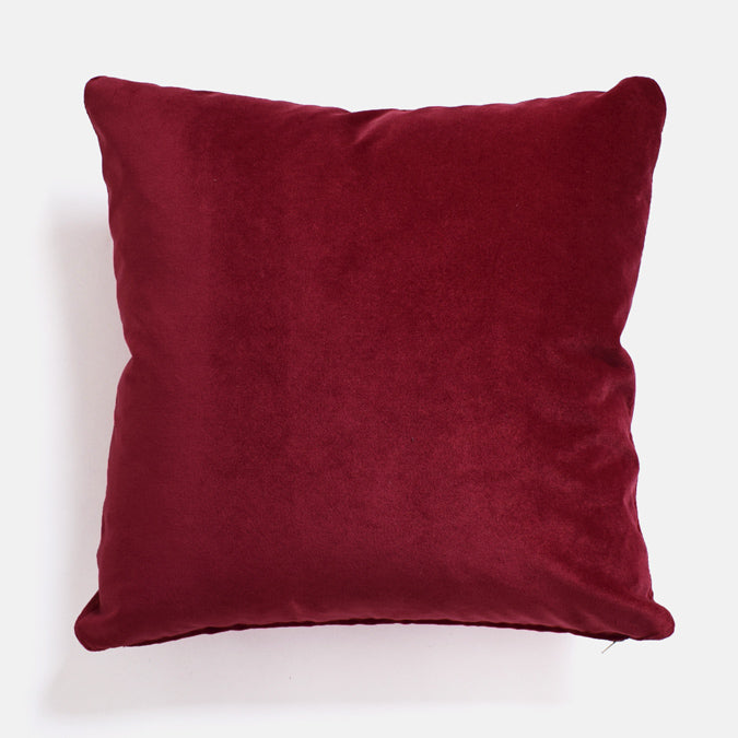 Winthrop Berries Velvet Pillow, square
