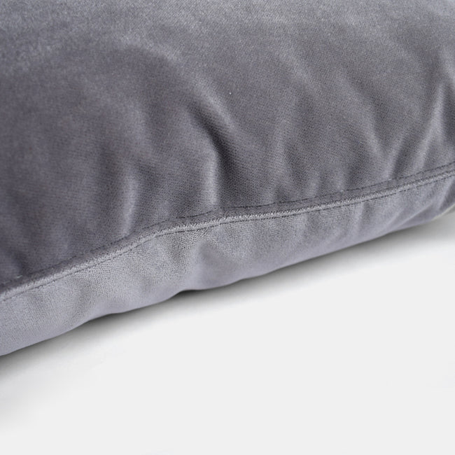 Winthrop Grey Velvet Pillow, square
