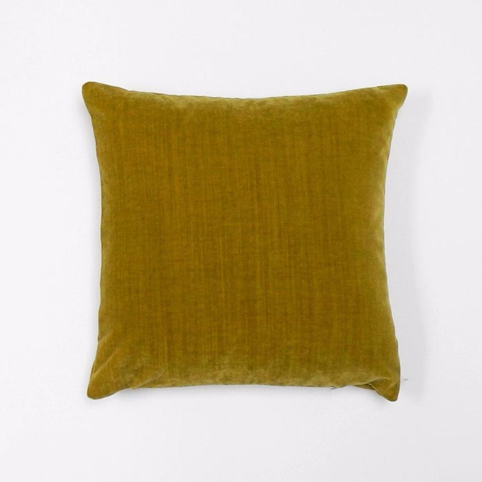 Chartreuse Velvet Pillow, square