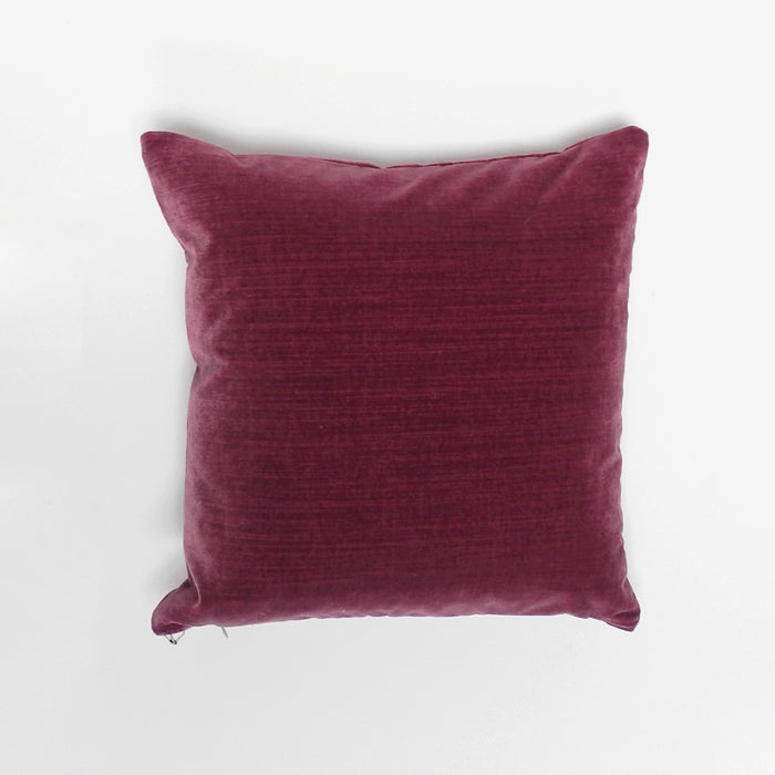 Deep Pink Velvet Pillow, square