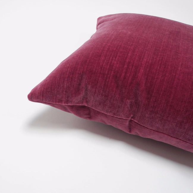 Deep Pink Velvet Pillow, square, Pillow, Collyer's Mansion, Collyer's Mansion - Collyer's Mansion