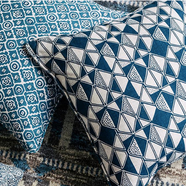 Cairo Indigo Pillow, square