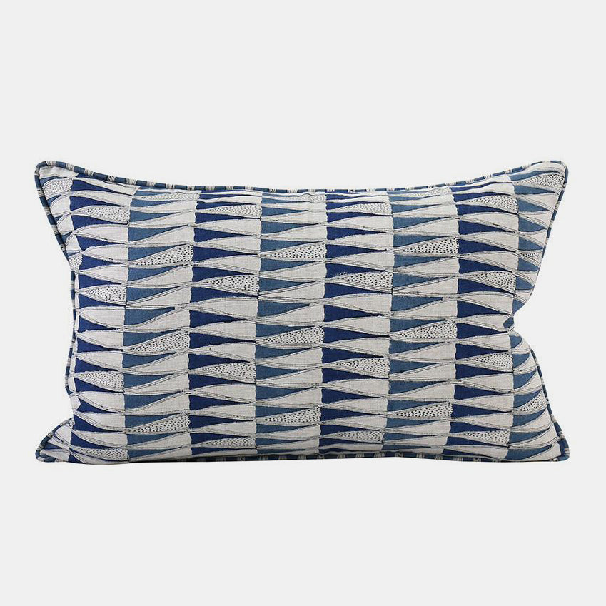 Tangier Blue Pillow, lumbar