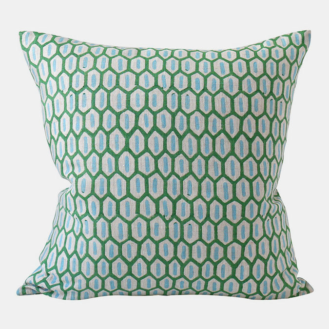 Tapi Emerald Pillow, square