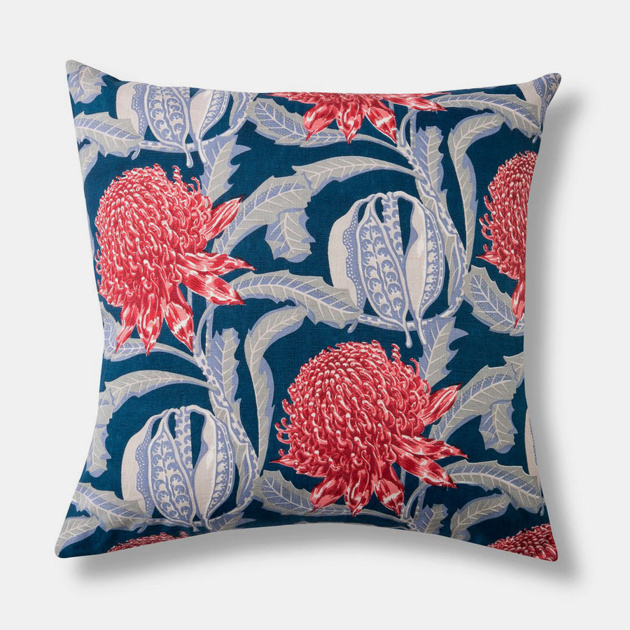 Waratah Heritage Pillow, square