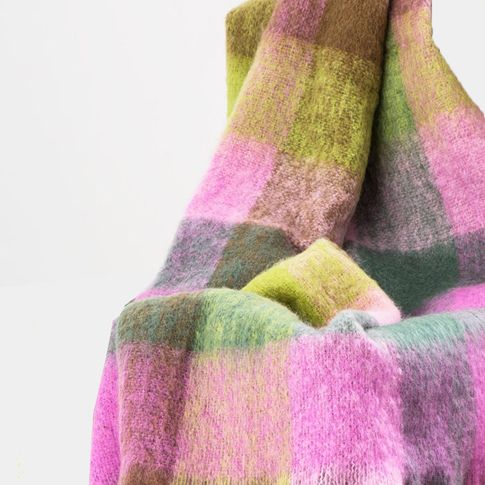 Wicklo Plaid Mohair Throw