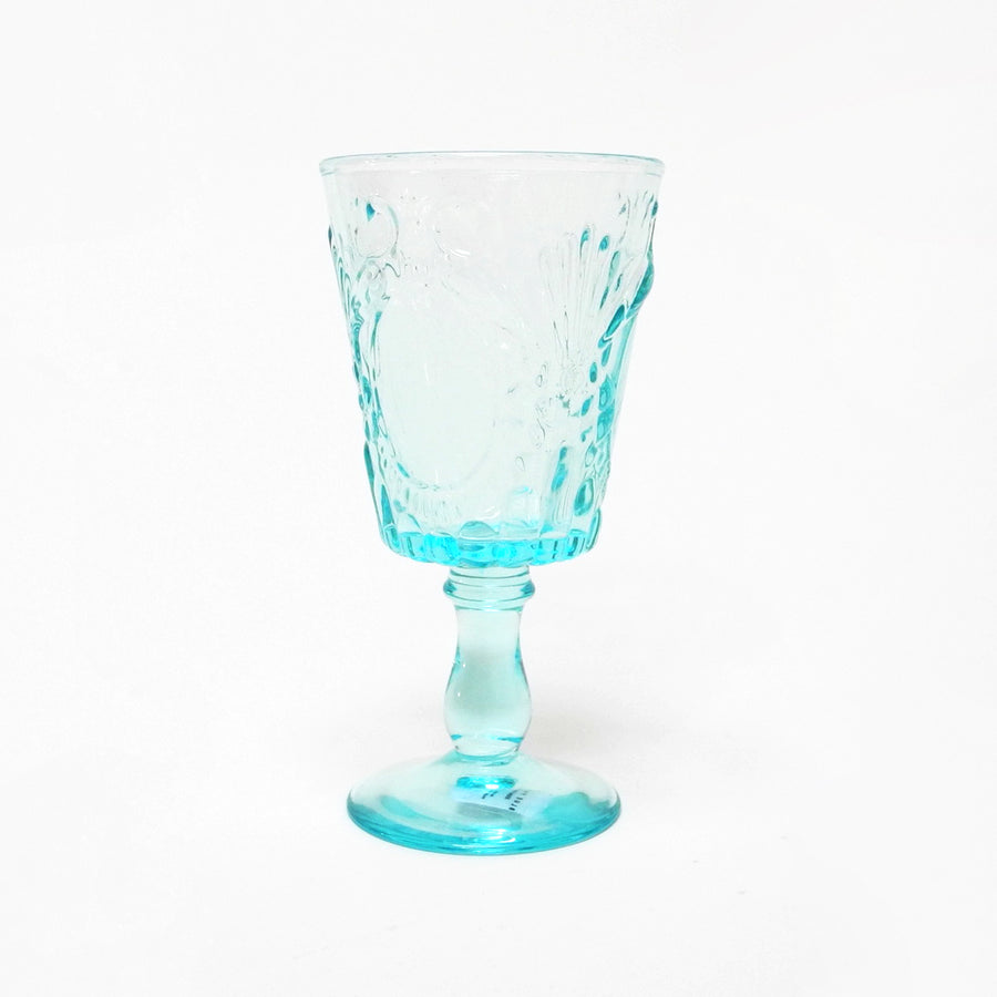 Blue Pheasant Grace Blue Wine Glass for elegant dining and blue tablescapes - Collyer's Mansion